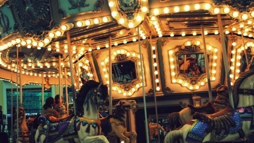 carnival, carousel, lights, merry-go-round, photography