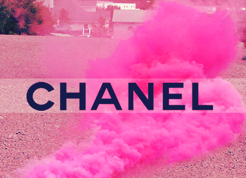chanel, fashion, pink, smoke