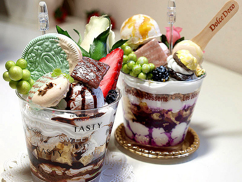 chocolate, dessert, food, fruits, ice cream