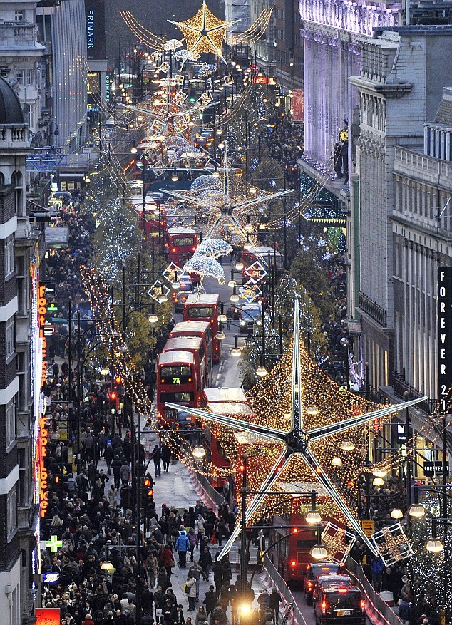 christmas, city, england, forever 21, london