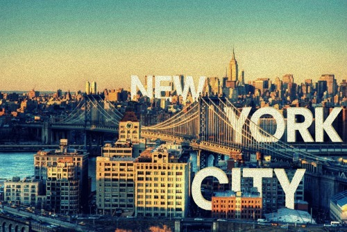 city, graphic, new york