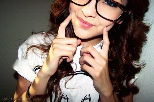 clark kent glasses, cute, nerd, nerdy girl, pretty, smile