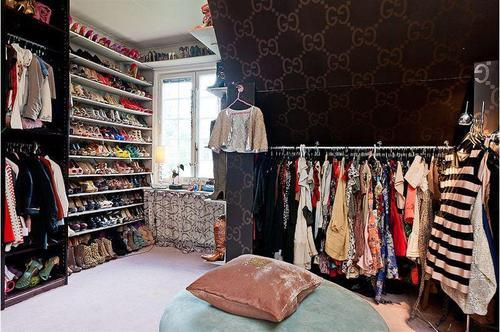 closet, clothes, shoes