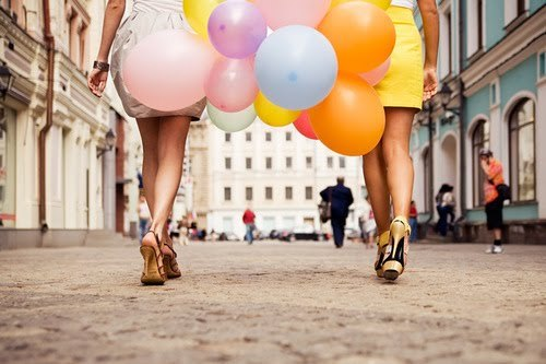clothes, colors, dress, friendship, girl, girls, shoes