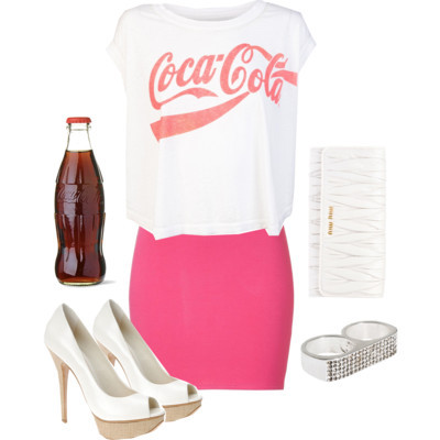 coca-cola, fashion, pink, polyvore, shoes