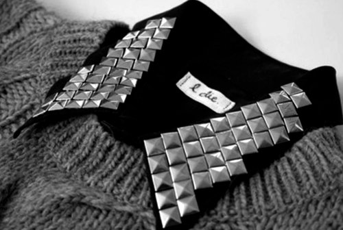 collar, fashion, studs, sweater
