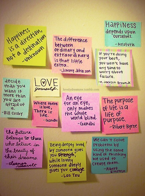 color, colorfull, love, note, post-it