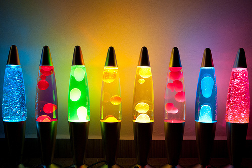 colorful, cool, lava lamps
