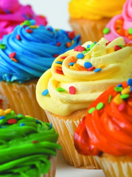 colorful, cupcakes, yummy