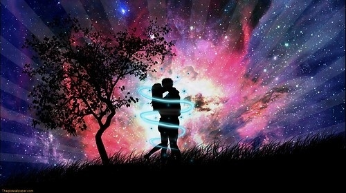 colors, couple, feelings, kiss, love, magical