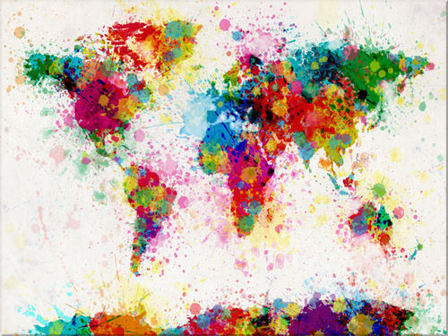 colourful, earth, map