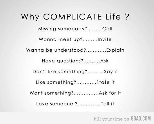 complicate, easy, feelings, life, like a boss