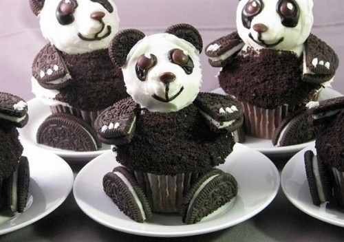cookie, cupcake, cute, kawaii, oreo, panda