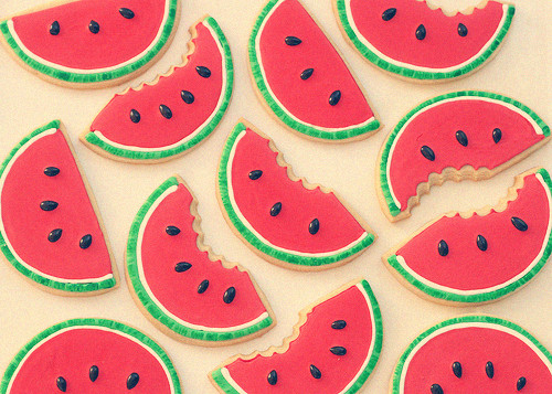 cookies, fruit, fruits, green, phography, red, watermelon