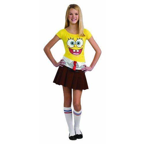 cool, costume, cute, girls, i love it, purim, spongebob squierpants