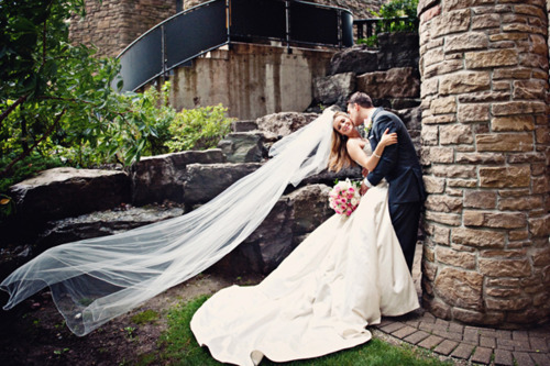 couple, love, veil, wedding, wedding dress