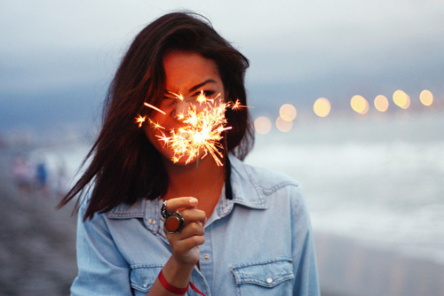 cracker, dream, face, fashion, girl, hair, hairstyle, happy, life, live, photo, photography, pose, profile, silvester, sparkler, sparks, style