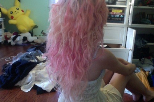 curly hair, cute, emo, fashion, girl, hair, kawaii, nice, piercing, pink hair, pretty, scene, smile, sweet