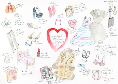 Cute drawing fashion girly illustration image for Girly tumblr drawings