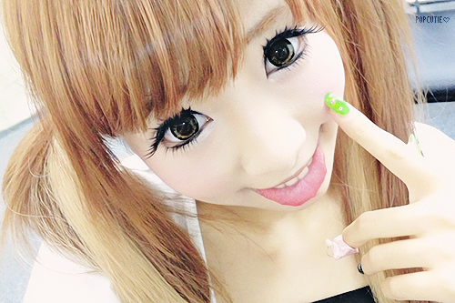 cute, eyes, gyaru, hikari shina, hime