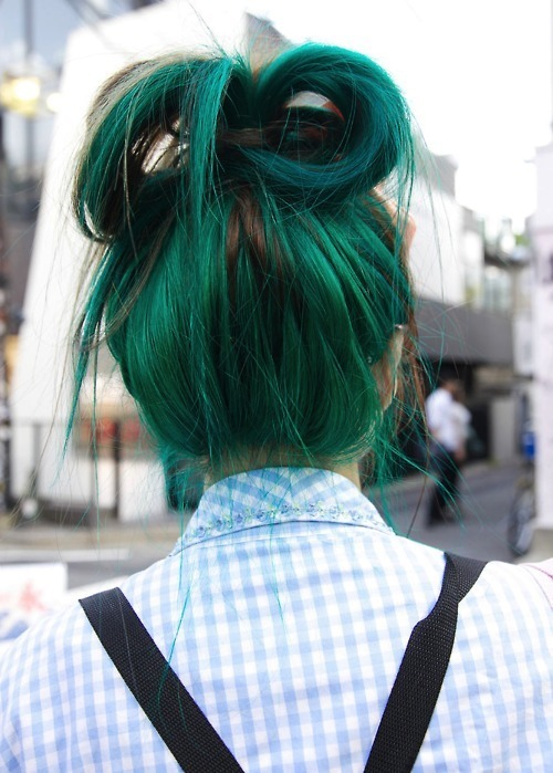 cute, fashion, green, hair, hair colors