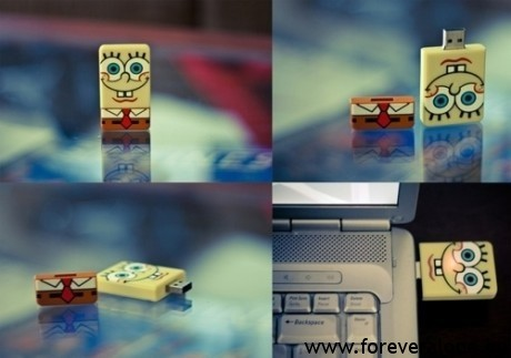 cute, fun, pendrive, spongebob, spongebob squarepants