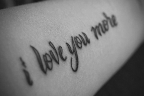 cute, love, quote, tattoo, true