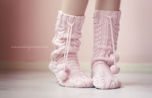 cute, pink, socks