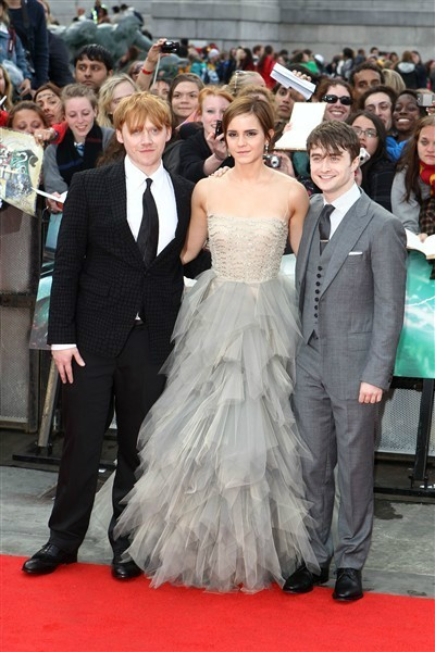 daniel radcliffe, deathly hallows, emma watson, harry potter, rupert grint