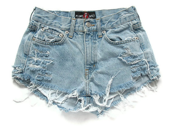denim shorts, fashion, girly, high waist shorts, hipster, hipster shorts, pretty, sexy, shorts, style, summer, vintage