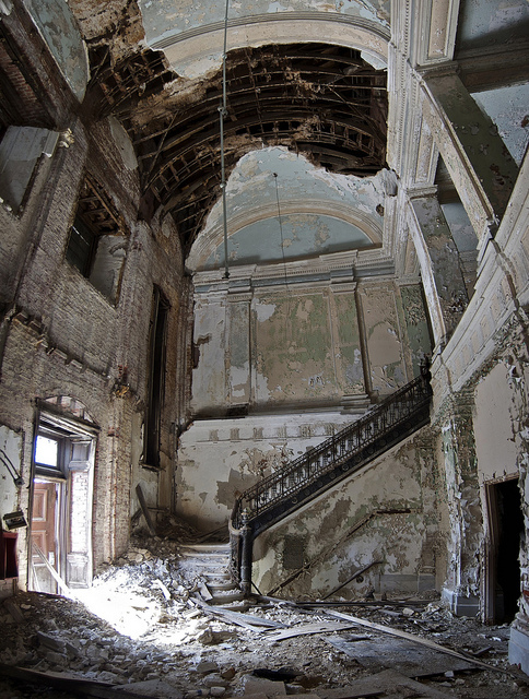 dilapidated, falling apart, house, mansion, old, place, ruins