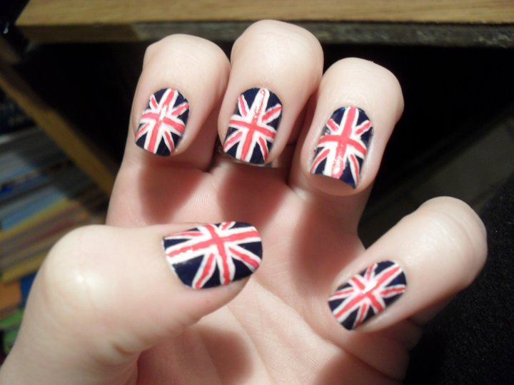 england, flag, nail art, nails