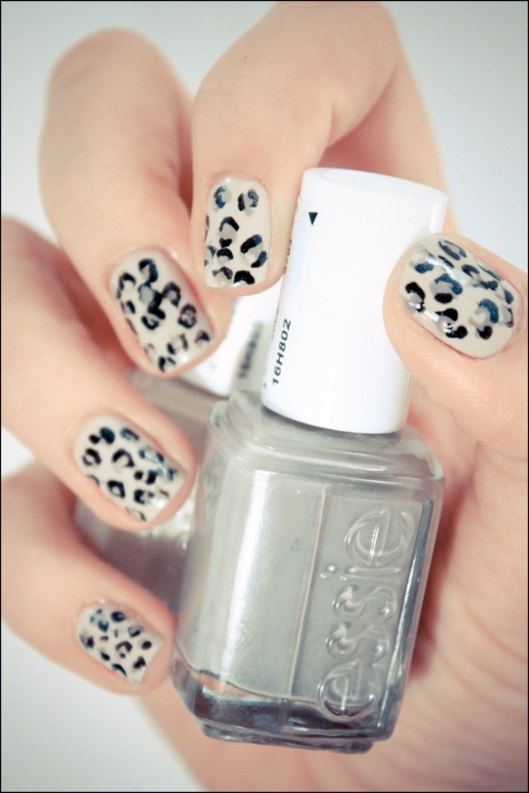 essie, leopard, nail art, nail polish, nails