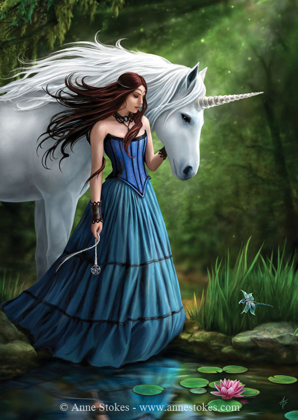 fantasy, girl, gown, horse, surreal