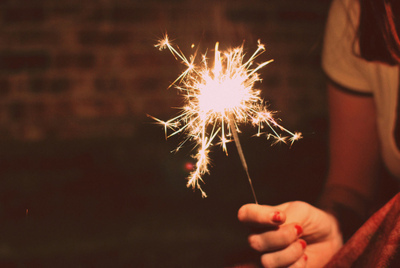 fashion, girl, girls, new, new year, photography, spark, sparkler, woman, women, year