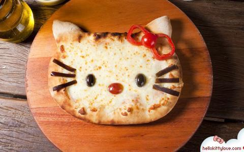 Food hello kitty pizza image 332758 on for Cuisine hello kitty