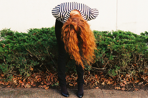 ginger, girl, hair, nice