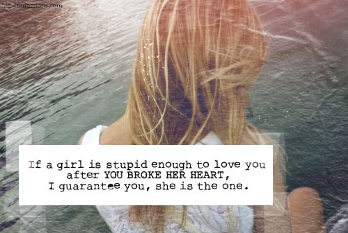 girl, heart, heartbroken, love, one