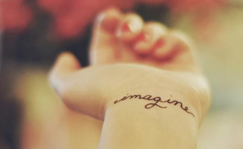 imagine, love, music, peace, pretty, skin, tatoo, tattoo