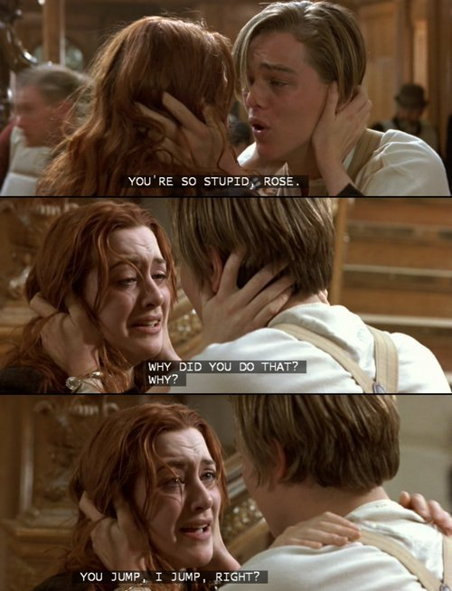 jack, movie quotes, rose, rose&,jack, titanic - image ...