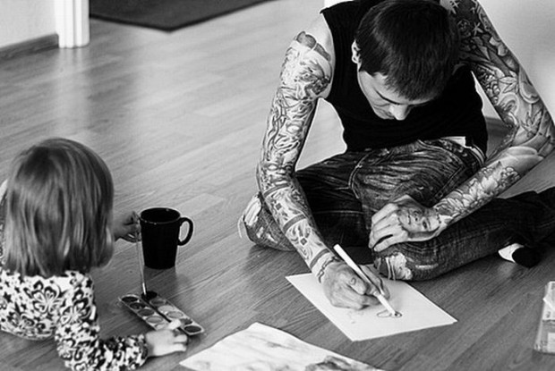kids, sweet, tatoo, tatoo parents