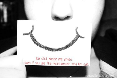 love, quote, sad, smile