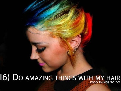 1000 things to do, bucket list, hair