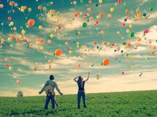People, balloons, cool picture, love, nice