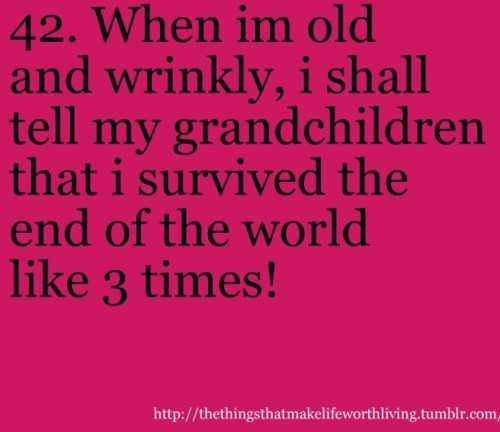 2012, end of the world, grandma, kids, old