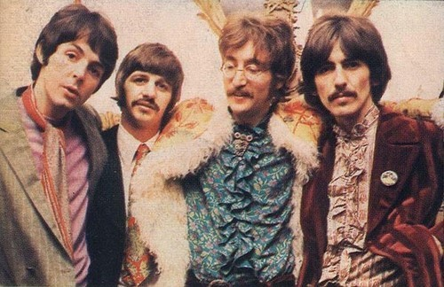 60s, george harrison, john lennon, music, paul mccartney