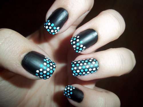 accent nail, blue, cute, fashion, girl