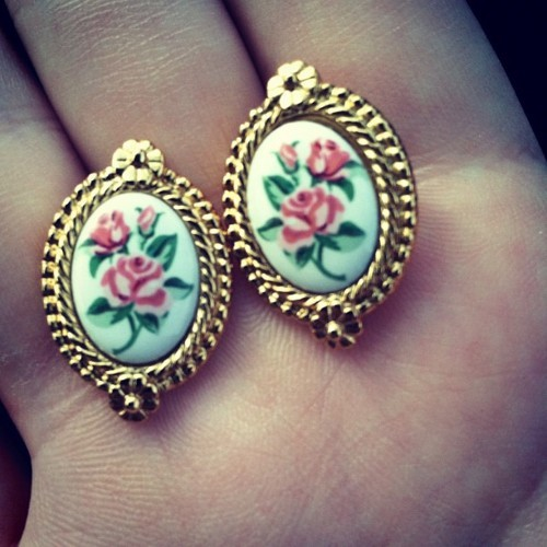 accessories, cute, earrings, fashion, floral