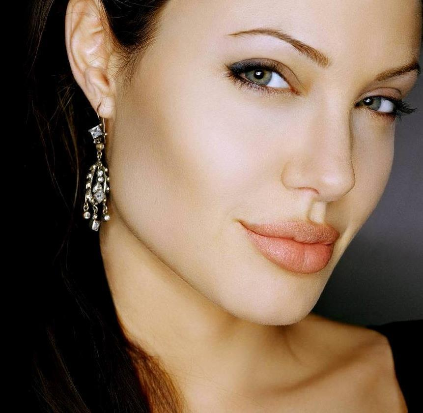 actress, angelina jolie, beautiful, black, brunette