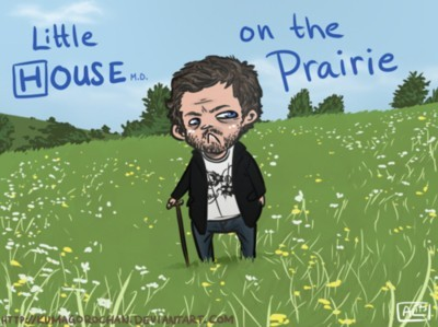 adorable, art, art work, cartoon, creative, cute, drawing, funny, hilarious, house, house md, little house on the prairie, prairie, show, sitcom, television